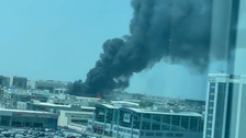 Fire breaks out in area near Dubai airport, no injuries reported