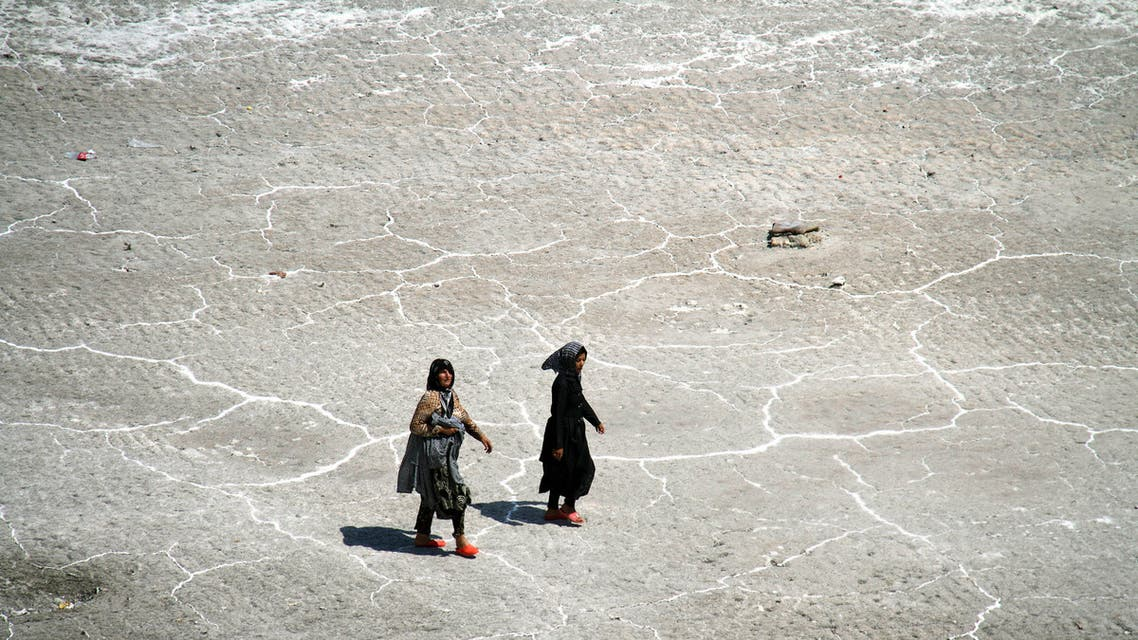 File photo from Lake Urmia taken in 2011. (AFP)