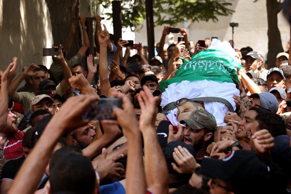 تشييع جثمان الشاب أسامة دعيج الذي قتل برصاص الجيش الإسرائيلي - فرانس برس