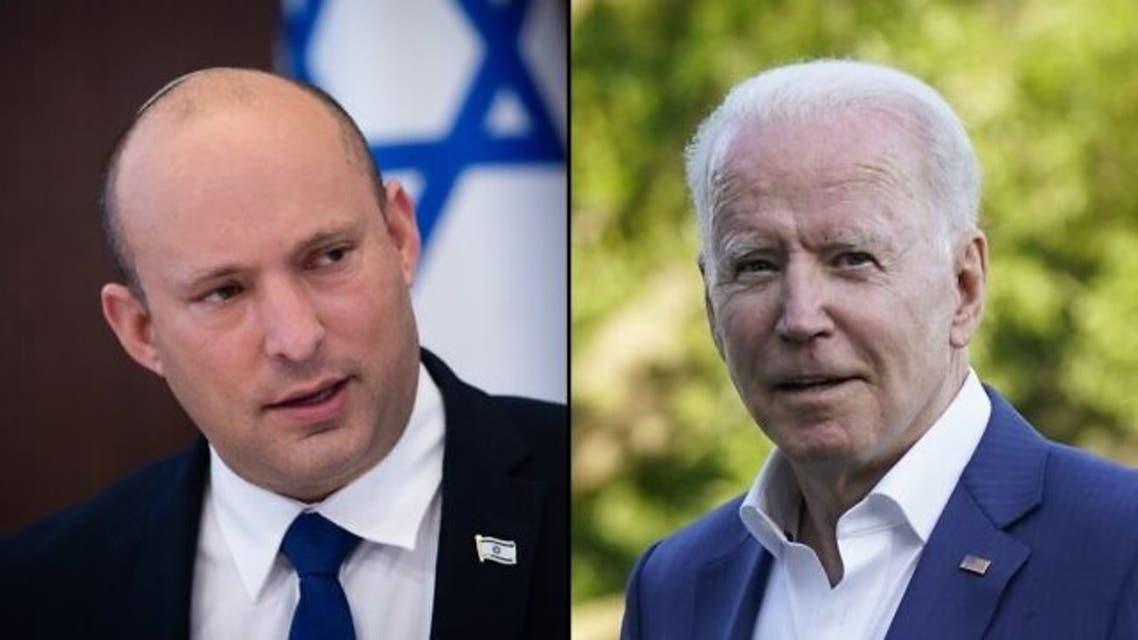 الرئيس جو بايدن ورئيس الوزراء الإسرائيلي نفتالي بينيت