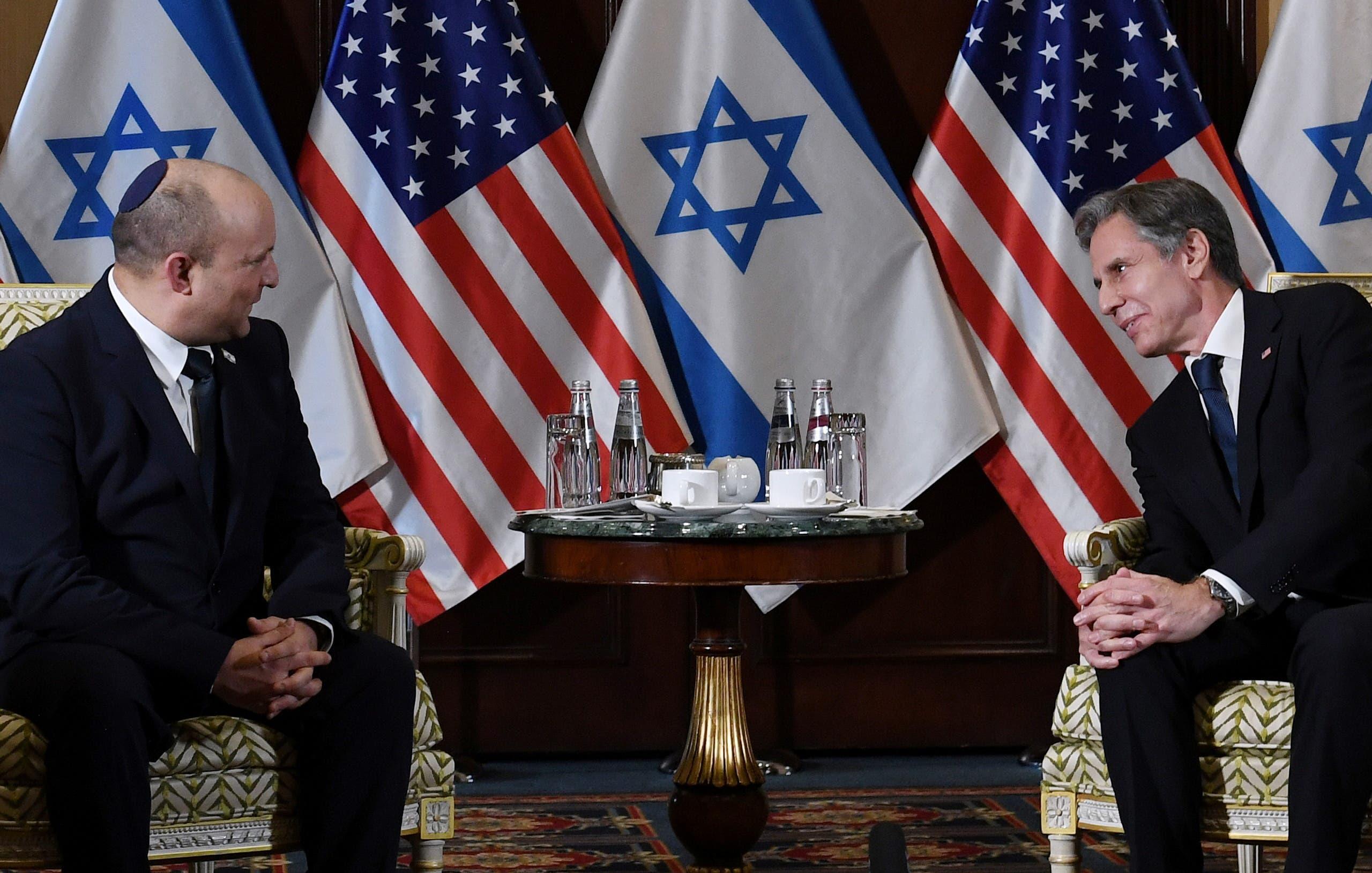 من لقاء بينيت ووزير الخارجية الأميركي أنتوني بلينكن
