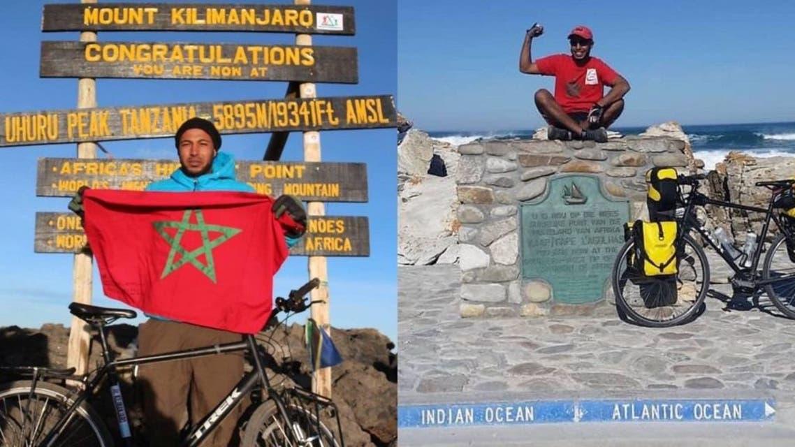رحّالة مغربي طاف 27 دولة بدراجته