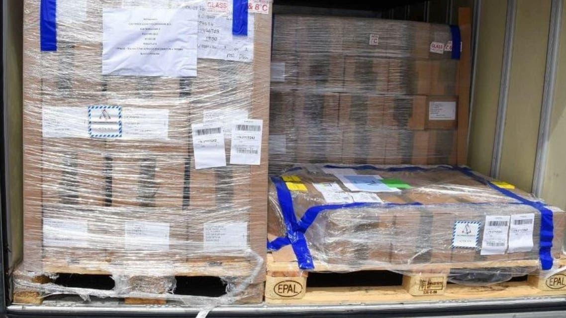 Saudi Arabia sent a relief cargo plane to Tunisia carrying 608,000 doses of the AstraZeneca COVID-19 vaccine. (SPA)