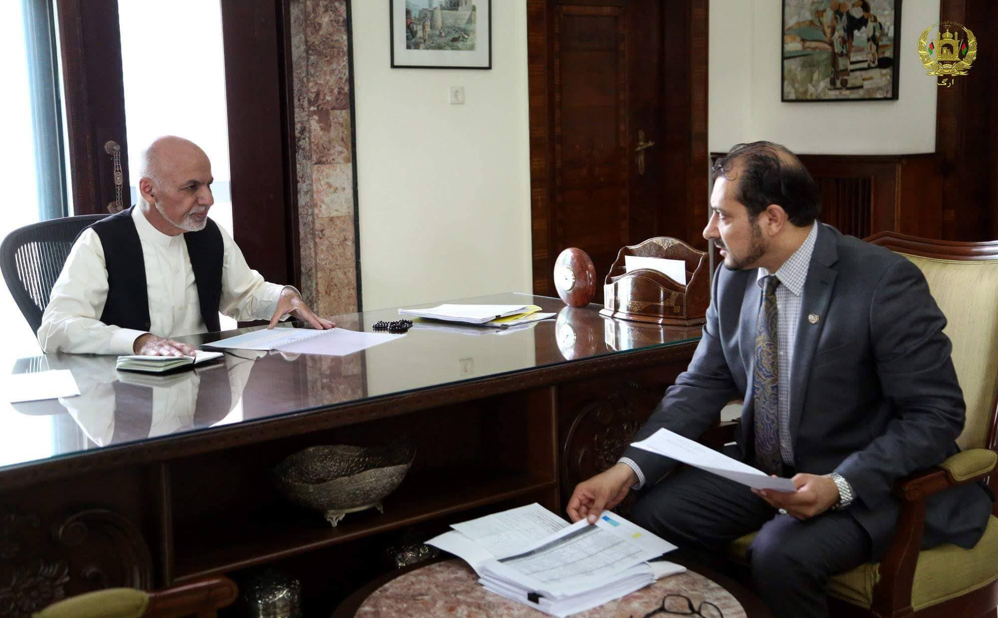 Afghanistan's former information minister, Syed Ahmad Shah Saadat (Twitter)