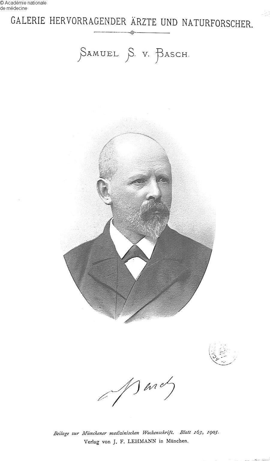 صورة لمخترع مقياس ضغط الدم الألماني صمويل سيغفرويد كارل فان باخ