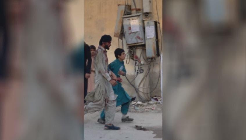 من الانفجار بمحيط مطار كابل