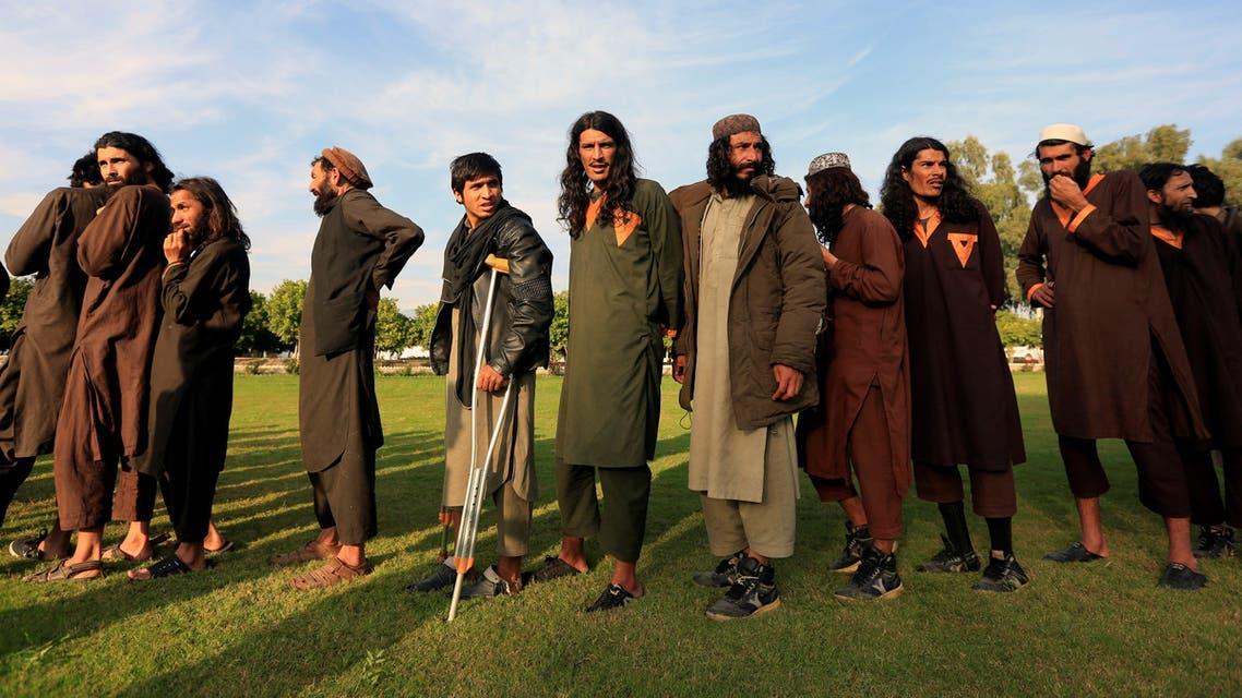 ISIS militants who surrendered to the Afghan government are presented to media in Jalalabad, Nangarhar province, Afghanistan November 17, 2019. (Reuters)
