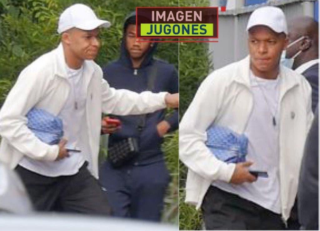 صورة متداولة لمبابي خلال وصوله إلى تدريبات باريس سان جيرمان
