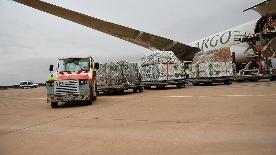 Saudi Arabia delivers medicine, food and other supplies to Algeria, Aug. 26, 2021. (SPA)