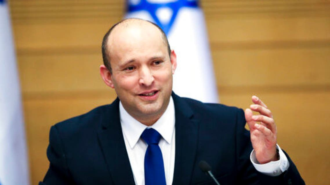 In this June 13, 2021, file photo Israel's new prime minister Naftali Bennett holds a first cabinet meeting in Jerusalem. (AP)