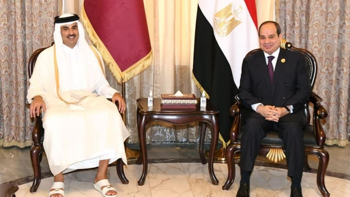 الرئيس السيسي وأمير قطر