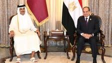 محادثات بين الرئيس المصري وأمير قطر على هامش مؤتمر بغداد