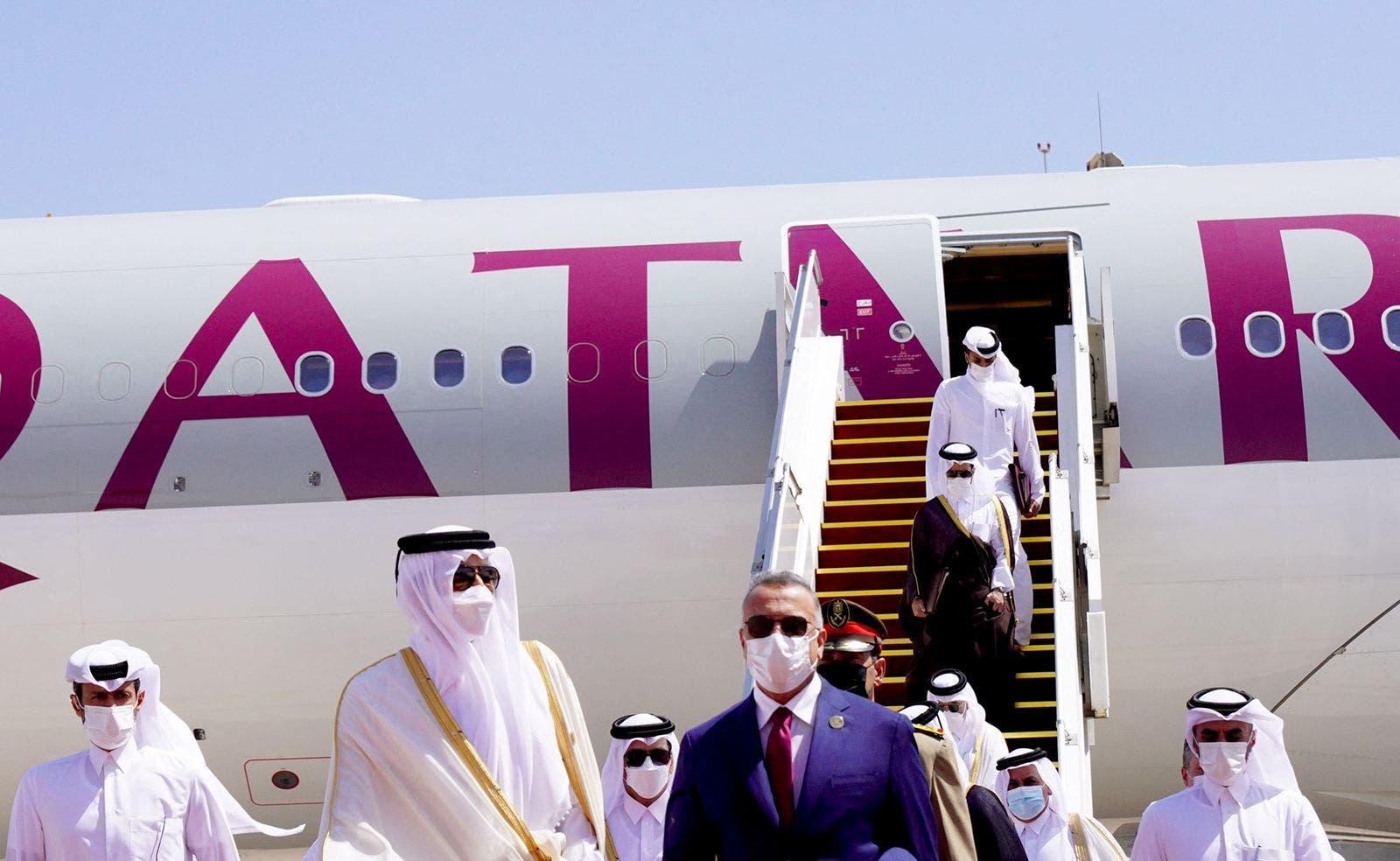 جانب من وصول أمير قطر تميم بن حمد
