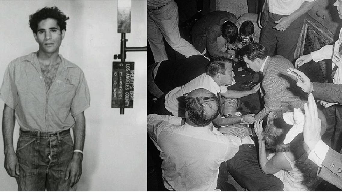 كينيدي قتيلا، وسرحان بعد اعتقاله