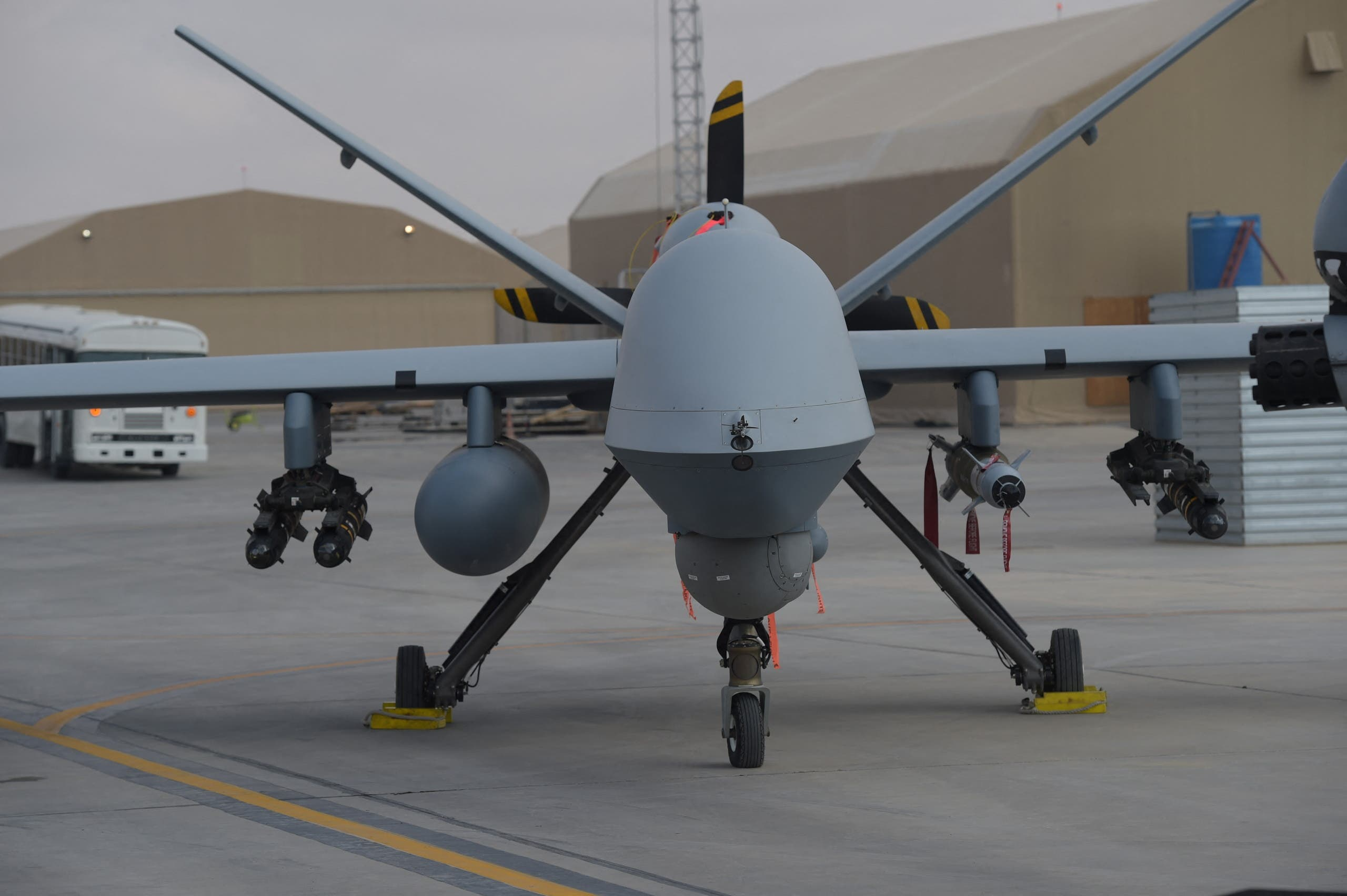 The good news for Americans is that armed conflict is increasingly being fought remotely through drones, meaning the next conflict will likely feature fewer US soldiers on the ground. (Stock image)