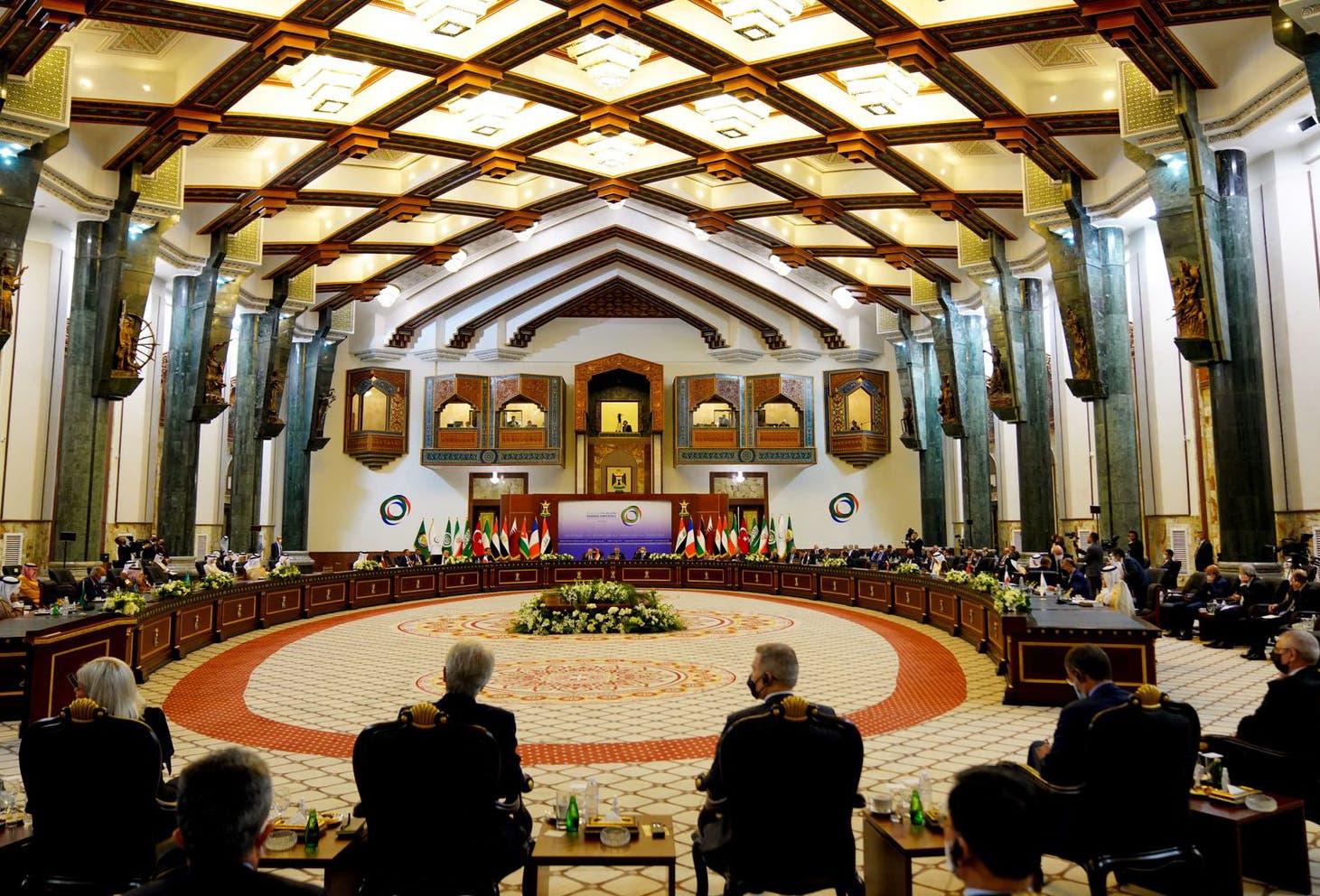 من مؤتمر بغداد السبت