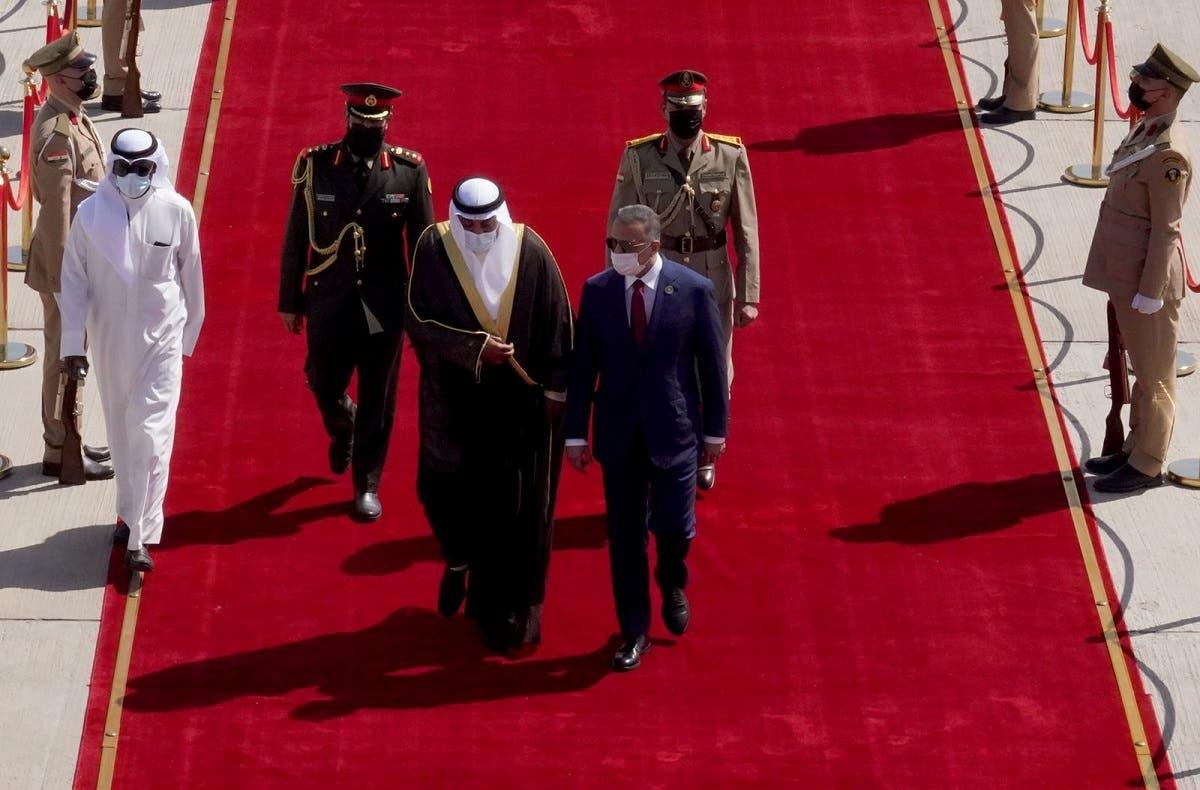 جانب من وصول رئيس الوزراء الكويتي