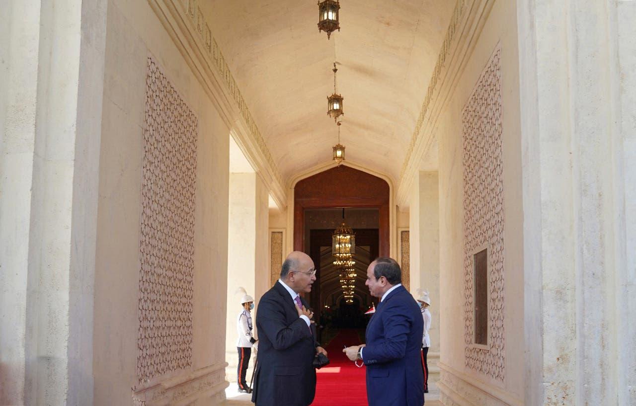 الرئيس المصري والرئيس العراقي