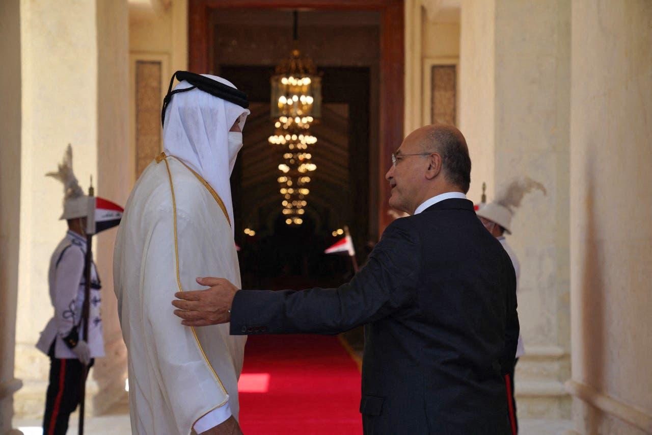الرئيس العراقي وأمير قطر