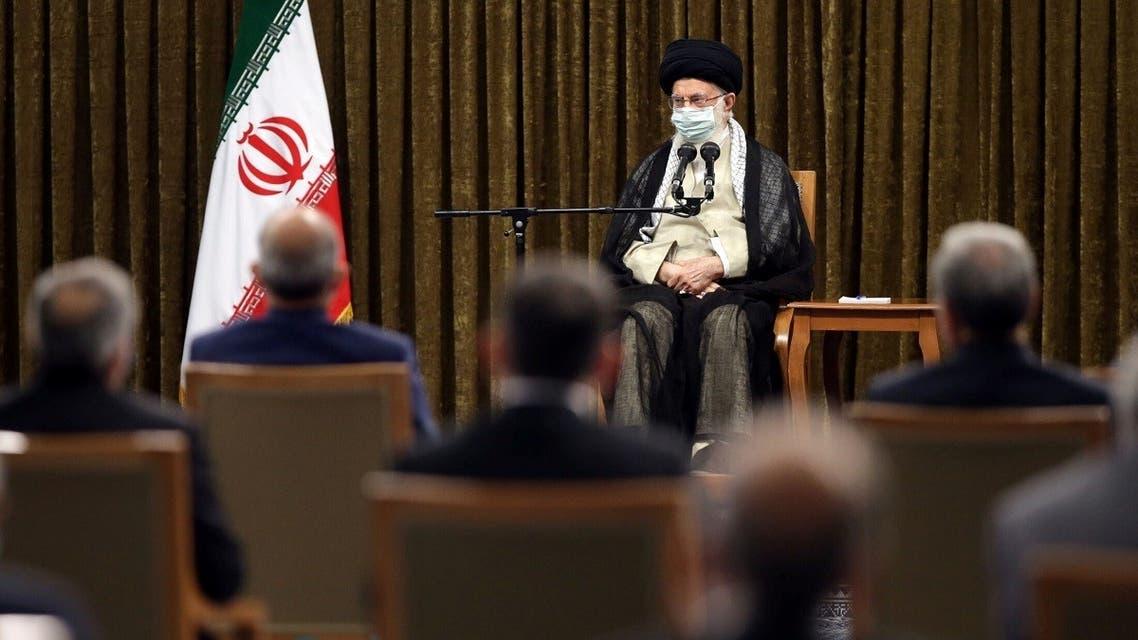 Iran's Supreme Leader Ayatollah Ali Khamenei meets with Iran's President Ebrahim Raisi and his cabinet members, in Tehran, Iran August 28, 2021. (Reuters)