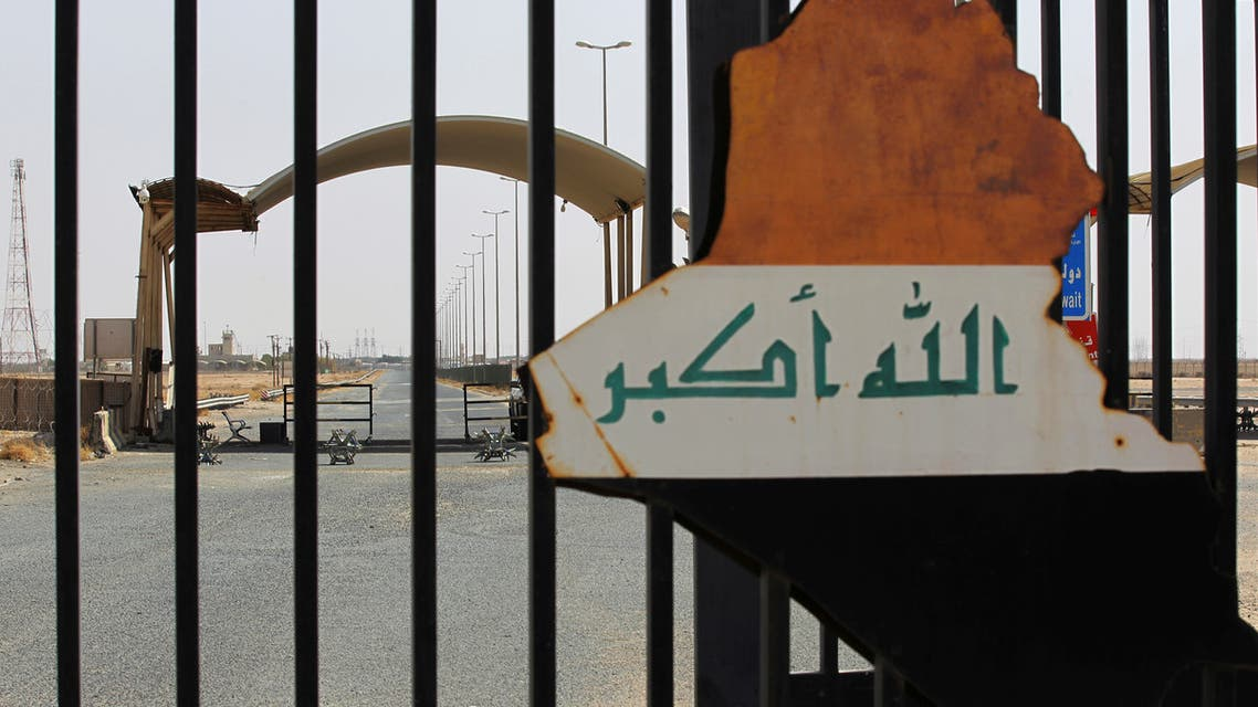 A picture taken during the visit of Iraqi prime minister to the southern city of Basra shows the Safwan border crossing with Kuwait, Iraq, July 15, 2020. (Reuters)