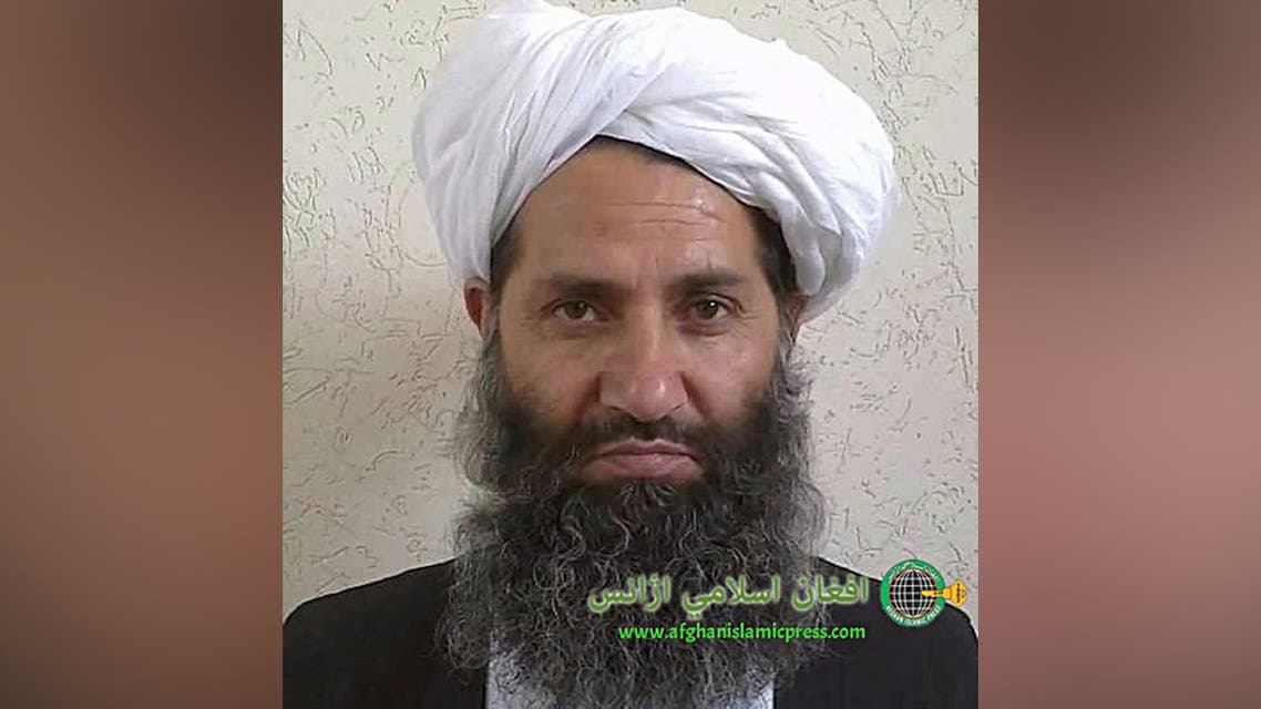 In this undated photo from an unknown location, released in 2016, the leader of the Afghanistan Taliban Mawlawi Hibatullah Akhundzada poses for a portrait. (AP)