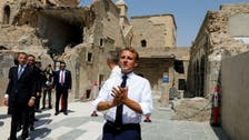 French President Macron arrives in Iraq's Mosul, former ISIS stronghold