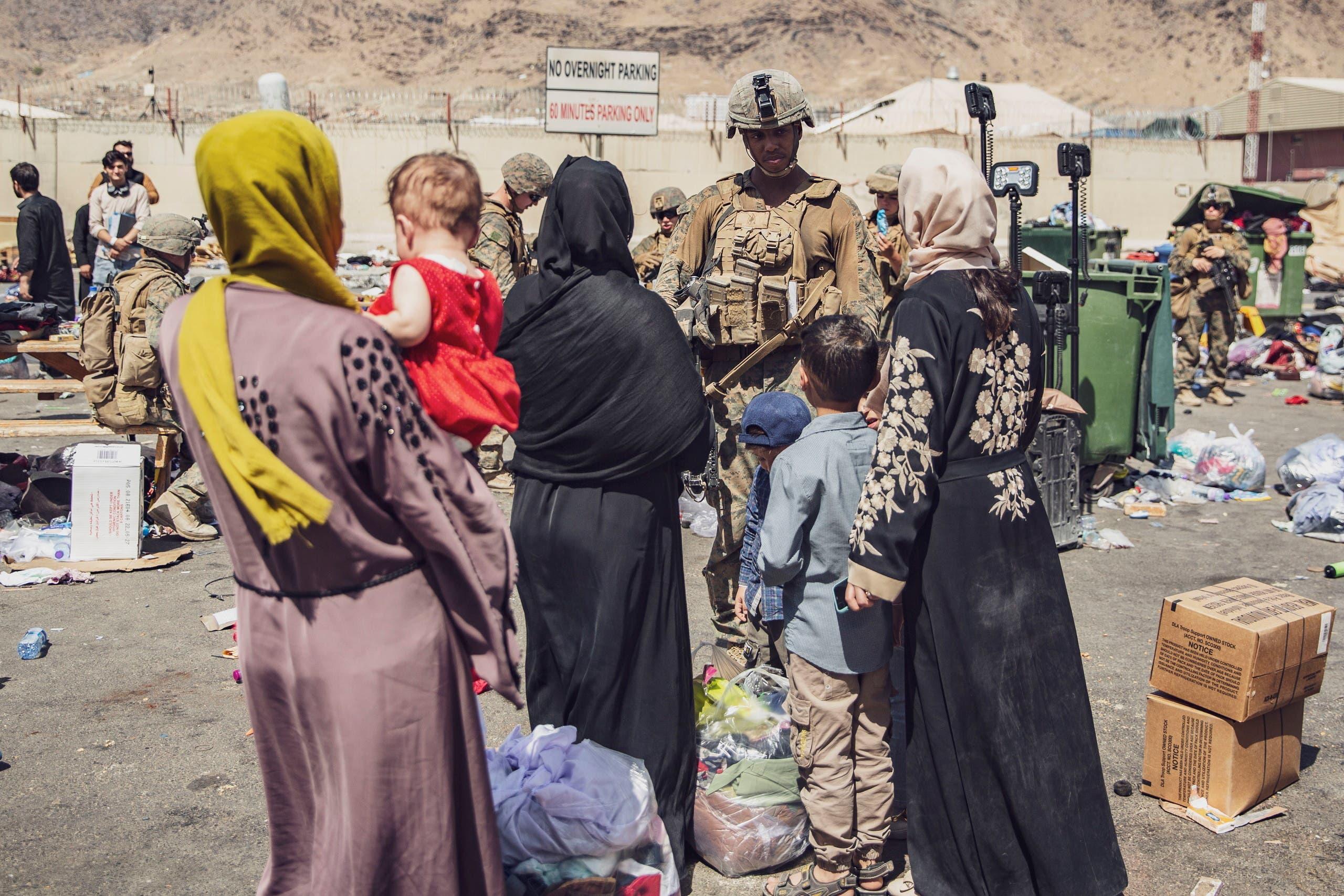 من عمليات الإجلاء التي قادها الجيش الأميركي في مطار كابل الشهر الماضي