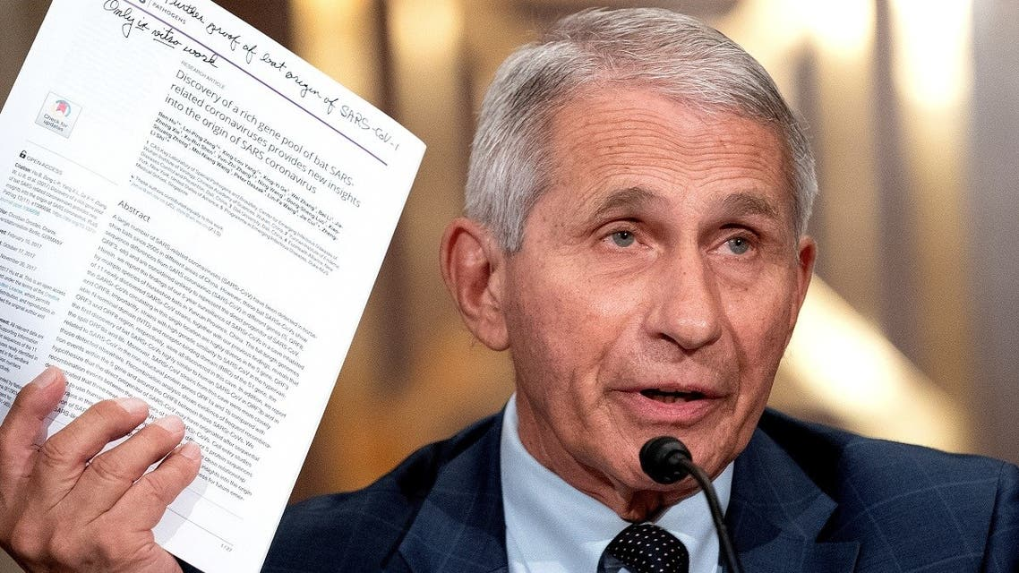 Dr. Anthony Fauci, director of the National Institute of Allergy and Infectious Diseases, speaks during a Senate Health, Education, Labor, and Pensions Committee hearing at the Dirksen Senate Office Building in Washington, DC, US, July 20, 2021. (Reuters)