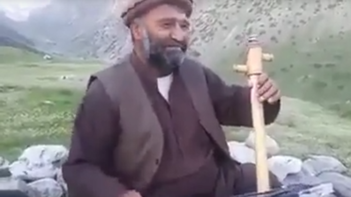 Screengrab from a video showing Fawad Andarabi performing. (YouTube)
