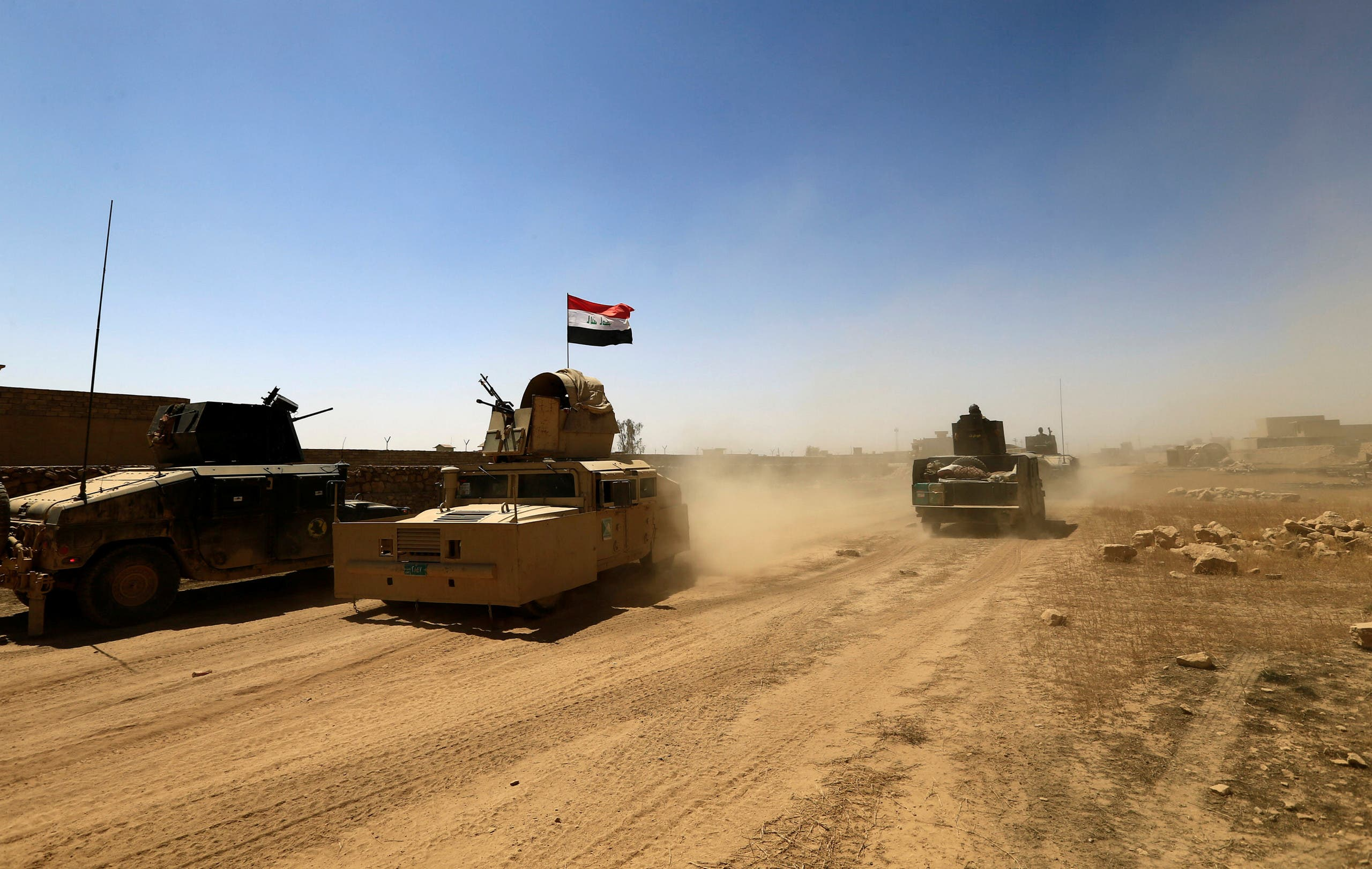Military vehicles of the Counter Terrorism Service (CTS) are seen during the fight with ISIS fighters in Tal Afar, Iraq, August 25, 2017. (File photo: Reuters)