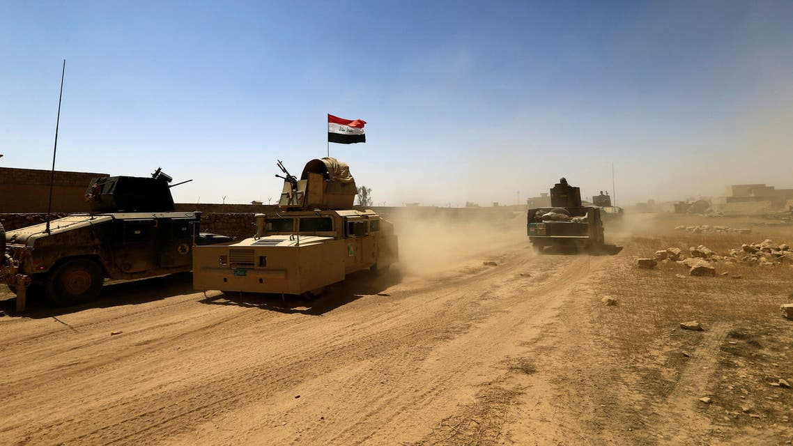 Military vehicles of the Counter Terrorism Service (CTS) are seen during the fight with ISIS fighters in Tal Afar, Iraq.  (File photo: Reuters)