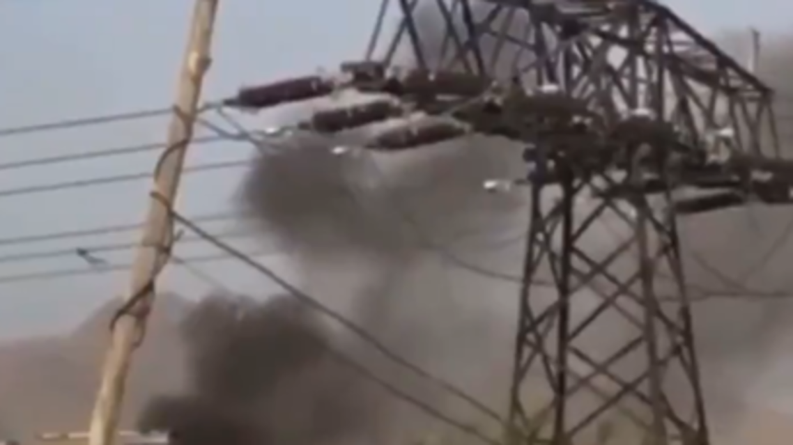 Screengrab from a video appearing to show a blast in Kabul. (Twitter)