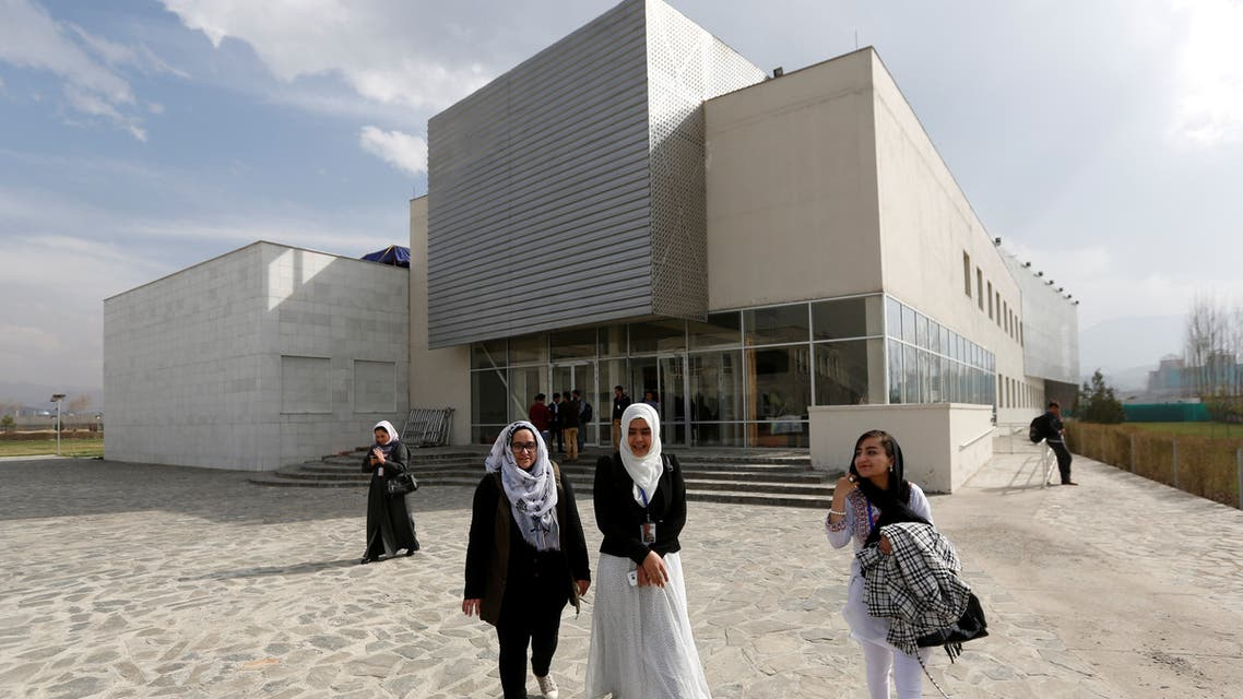 Female students of American University of Afghanistan walk as they arrive for new orientation sessions at a American University in Kabul, Afghanistan March 27, 2017. (Reuters)
