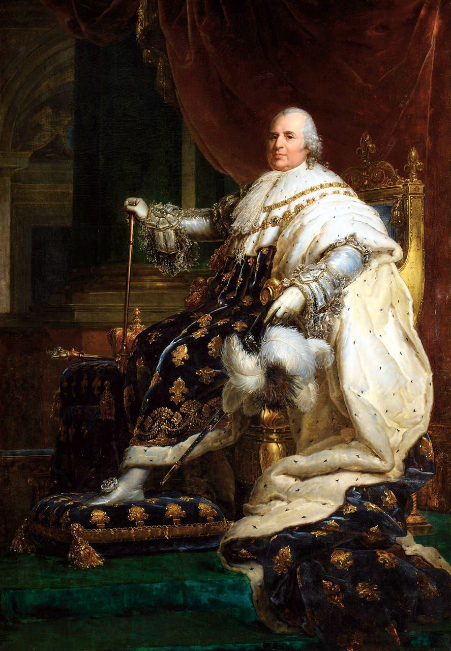 لوحة تجسد الملك لويس الثامن عشر