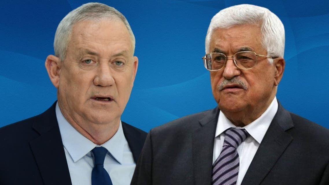 الرئيس الفلسطيني محمود عباس ووزير الدفاع الإسرائيلي بيني غانتس