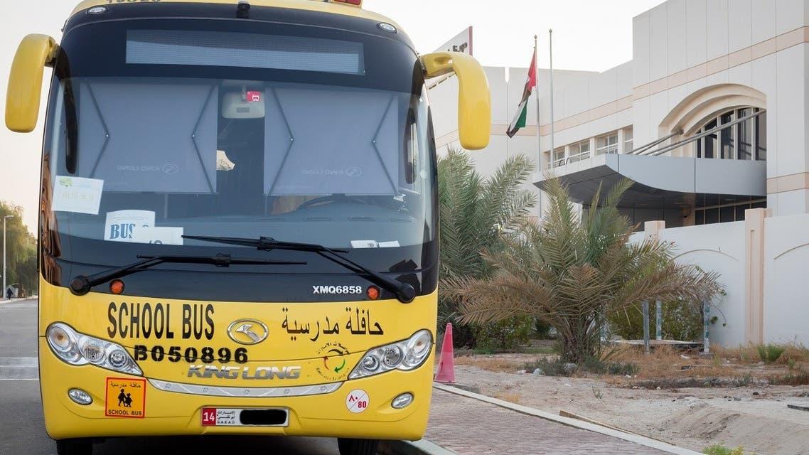 Yellow school bus in Abu Dhabi, United Arab Emirates. (iStock)