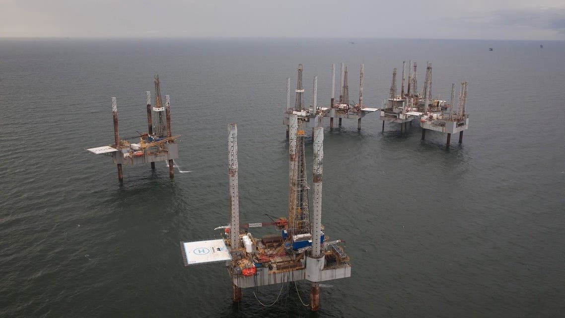 Unused oil rigs in the Gulf of Mexico near Port Fortune, Louisiana. (File photo: Reuters)
