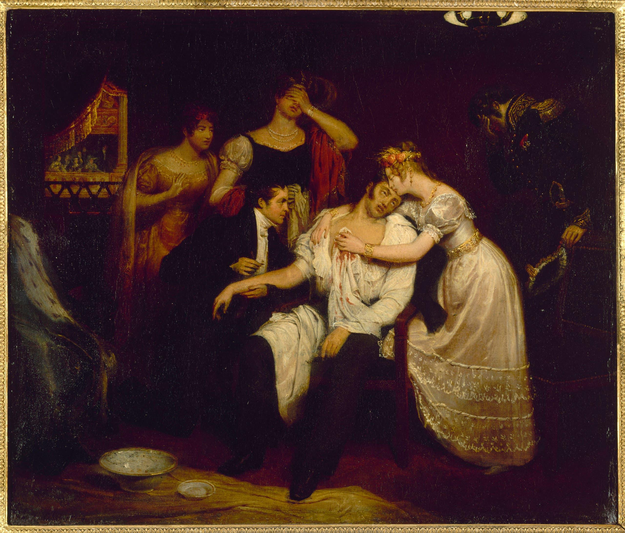لوحة تجسد وفاة شارل فرديناند دارتوا