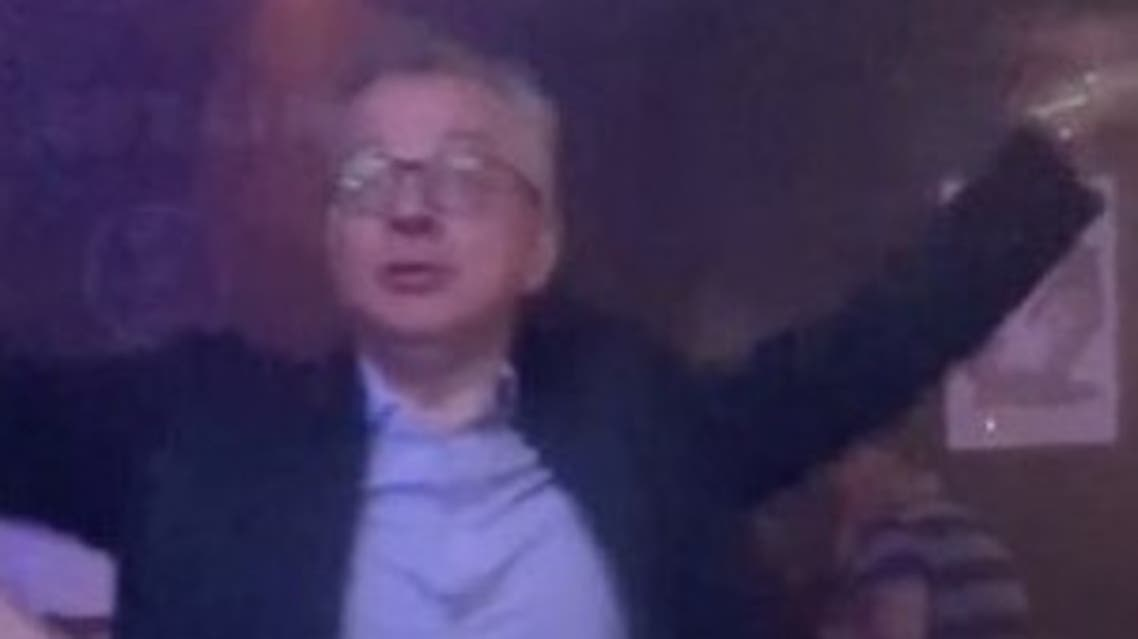UK MP Michael Gove spotted dancing at a techno nightclub in Aberdeen, Scotland. (Twitter)