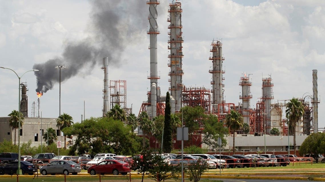 A general view shows Mexican state oil firm Pemex's Cadereyta refinery in Cadereyta, on the outskirts of Monterrey, Mexico, on August 27, 2021. (Reuters)