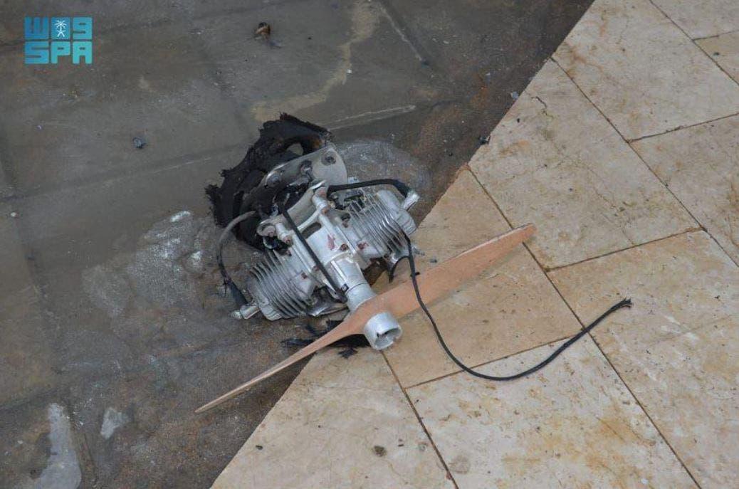 ابھا ائیرپورٹ پر استعمال کردہ ڈرون کے پرزے