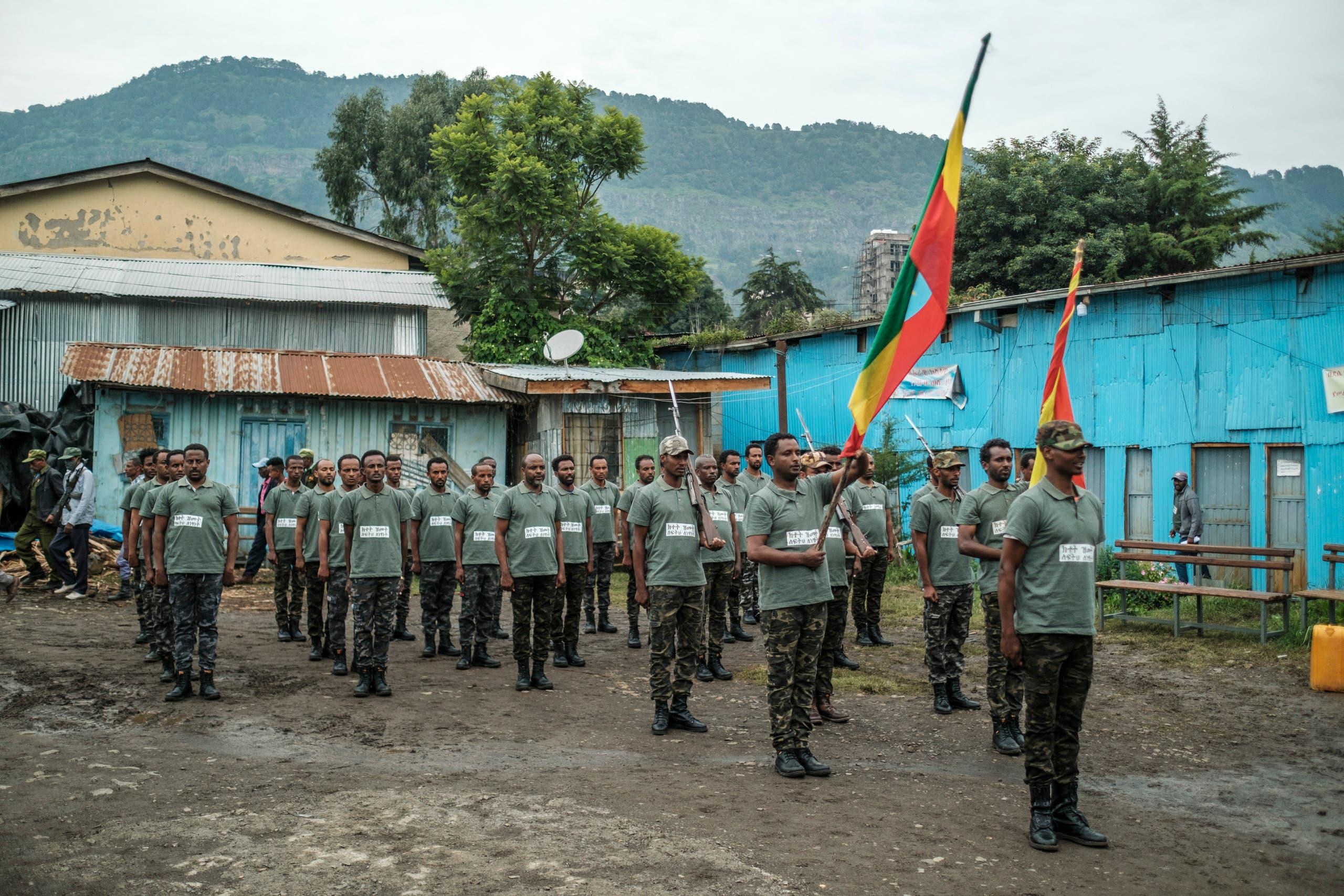 تدريب عسكري لميليشيا أمهرة في أغسطس الحالي