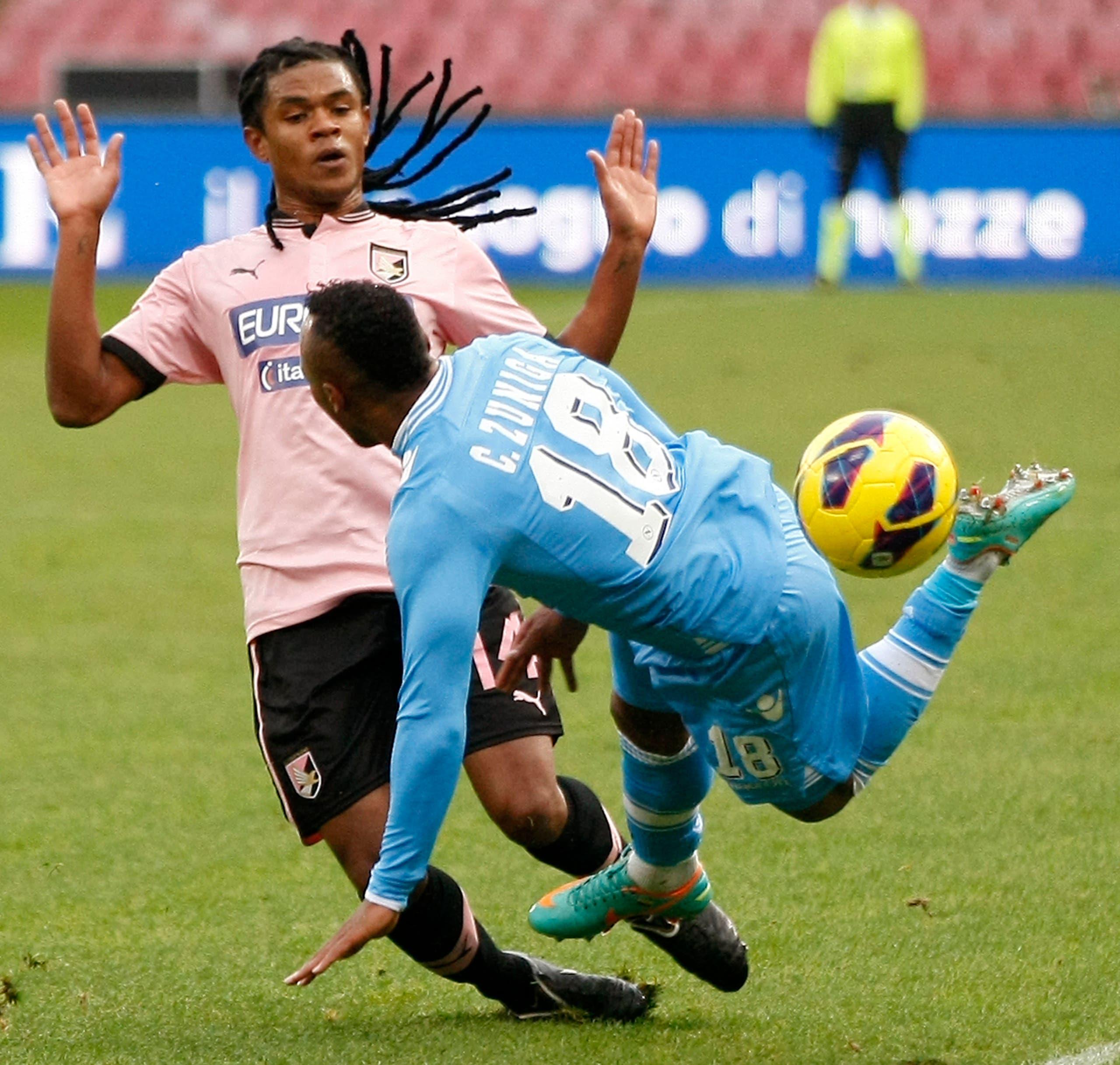 أنسيلمو في مباراة بقميص باليرمو