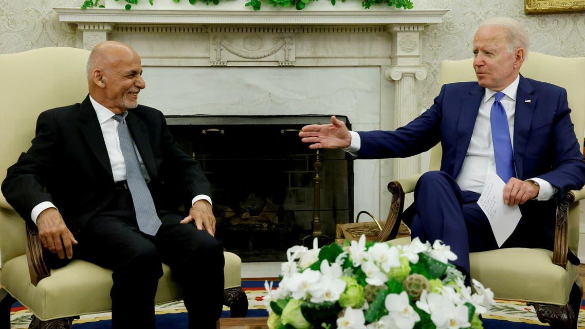 U.S. President Joe Biden meets with Afghan President Ashraf Ghani at the White House, in Washington, U.S., June 25, 2021. (Reuters)