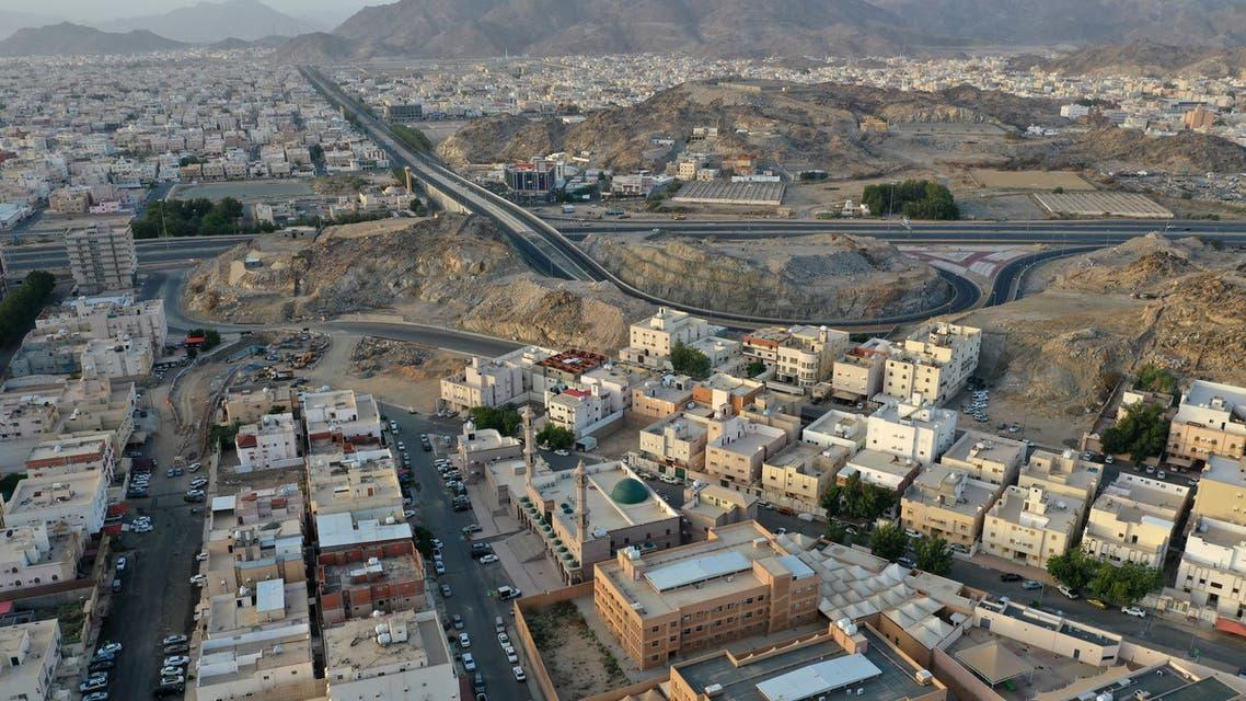 Aerial view of a neighborhood in Mecca, Saudi Arabia. (AFP)