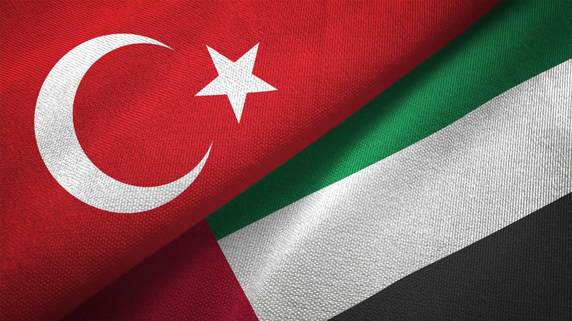 The flags of Turkey and the United Arab Emirates. (iStock)