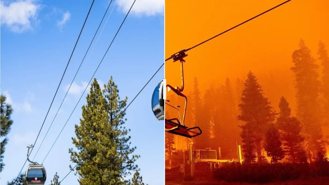 Before and after images shows destruction of California's Caldor fire