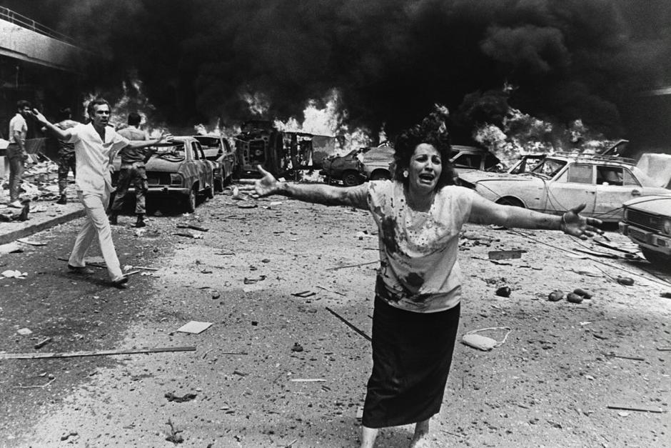 A famous photo of the civil war in Lebanon.  (Provided: Khalil Dehaini)