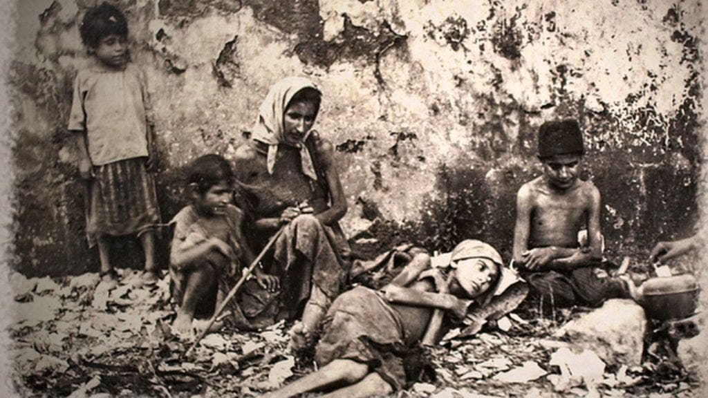 During World War I, a third of the population died of famine and disease on Mount Lebanon.  (Fouad Debbas Collection)
